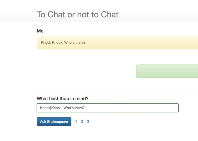 To Chat or not to Chat – screenshot 1