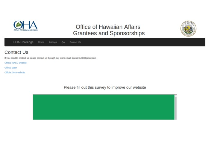 Office of Hawaii Affairs Grants & Scholarships Website – screenshot 4