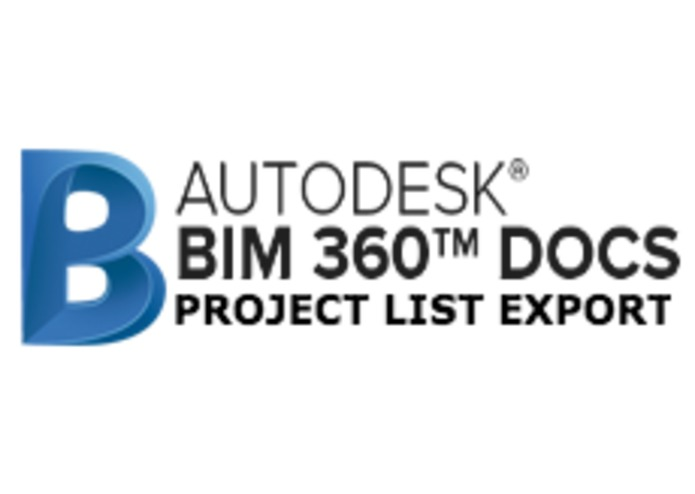 BIM 360 Docs Project List Export – screenshot 2
