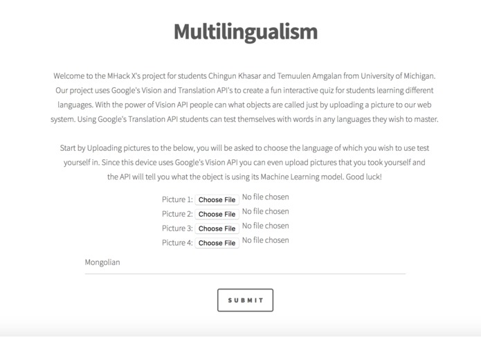 Multilingualism – screenshot 1