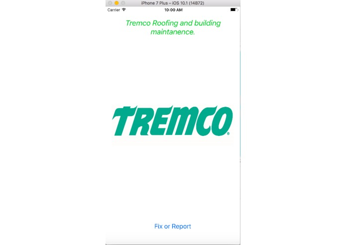 Tremco iOS App – screenshot 1