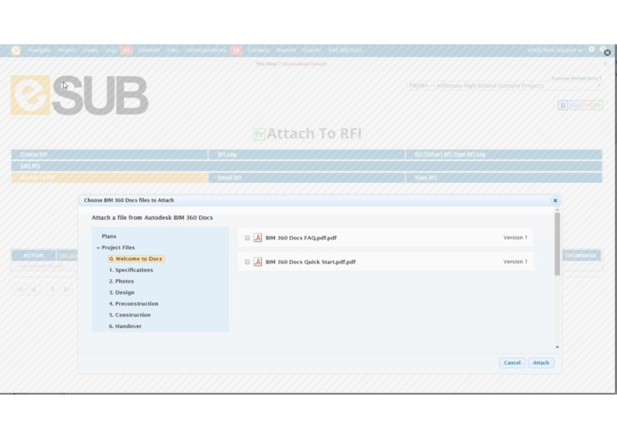 eSUB – screenshot 2