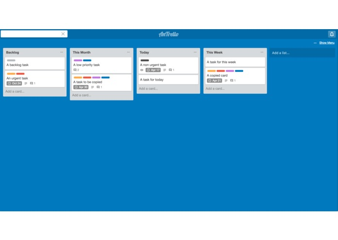 AnTrello_app – screenshot 1