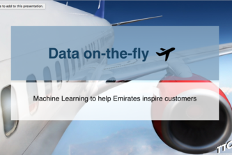 DataOnTheFly - Emirates CMU ML and AI Travel Hackathon