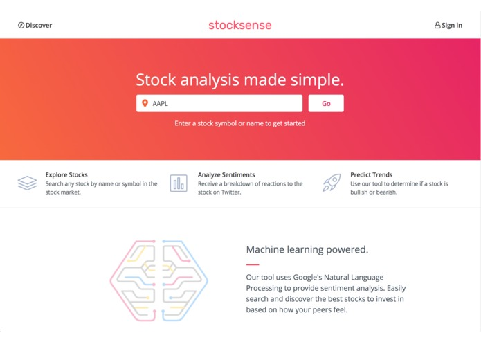 Stocksense Devpost
