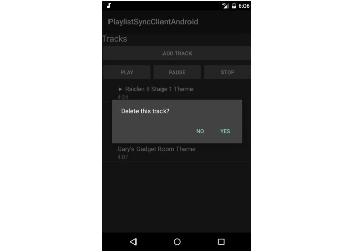 PlaylistSyncClientAndroid – screenshot 2