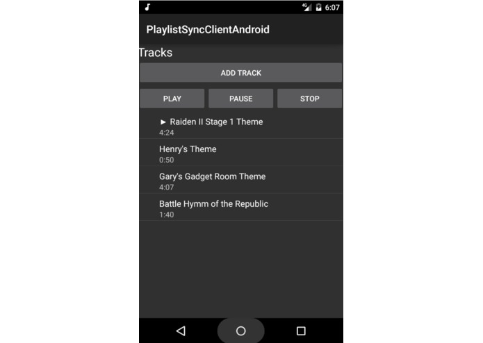 PlaylistSyncClientAndroid – screenshot 1