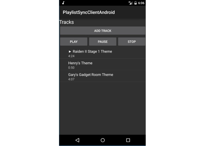 PlaylistSyncClientAndroid – screenshot 3