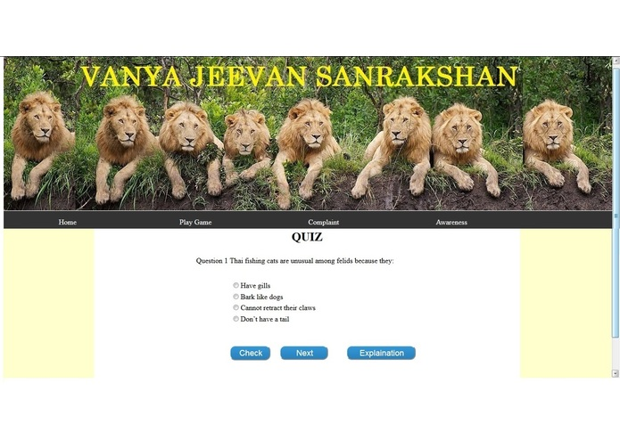 Vanya Jeevan Sanrakshan (problem statement 3) – screenshot 2