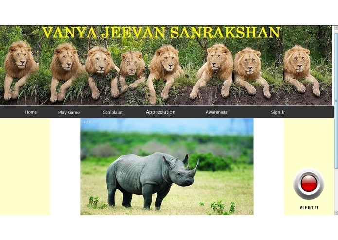Vanya Jeevan Sanrakshan (problem statement 3) – screenshot 1