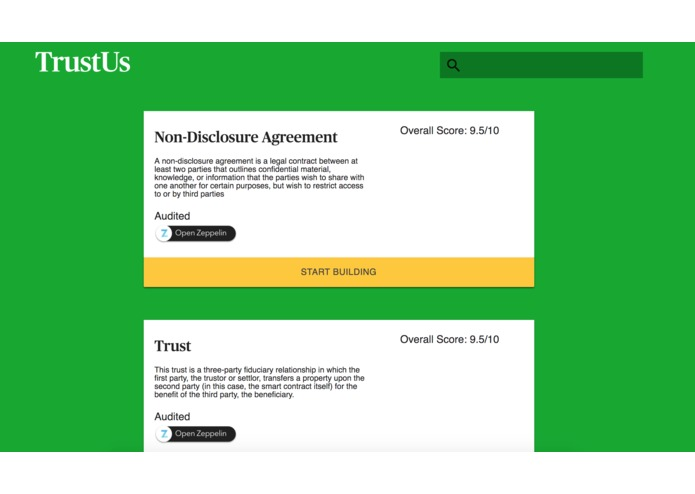 TrustUs – screenshot 2