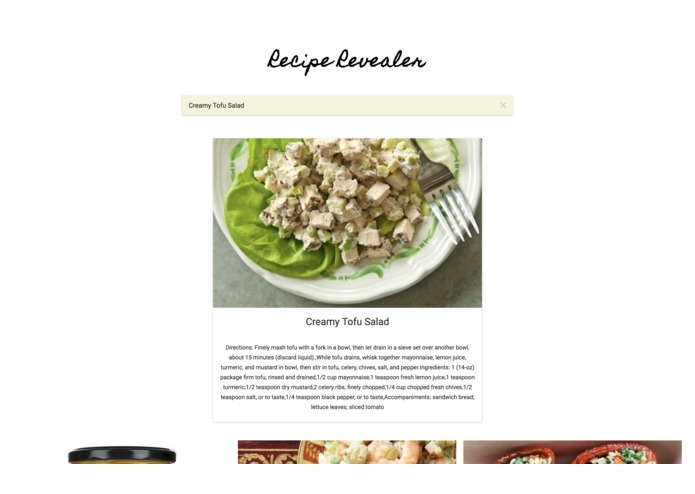 Recipe Revealer – screenshot 1