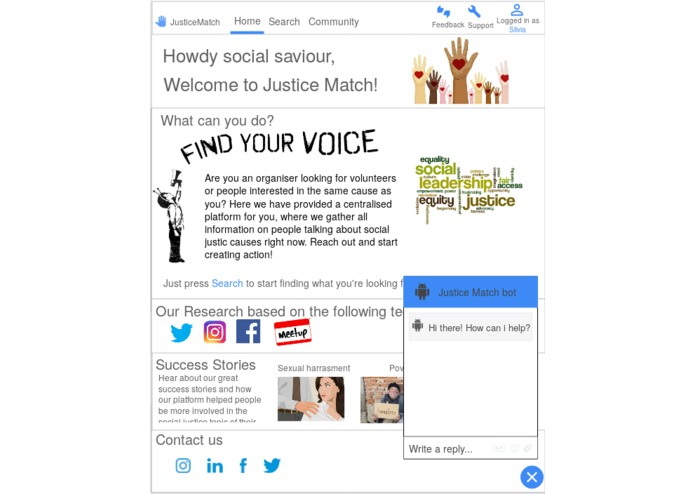 JusticeMatch – screenshot 1