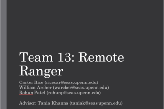 Team 13: Remote Ranger