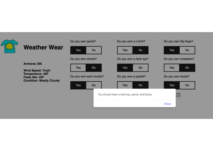 Weather Wear – screenshot 1