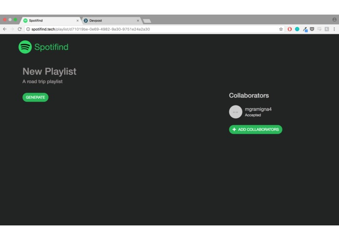 spotifind – screenshot 3