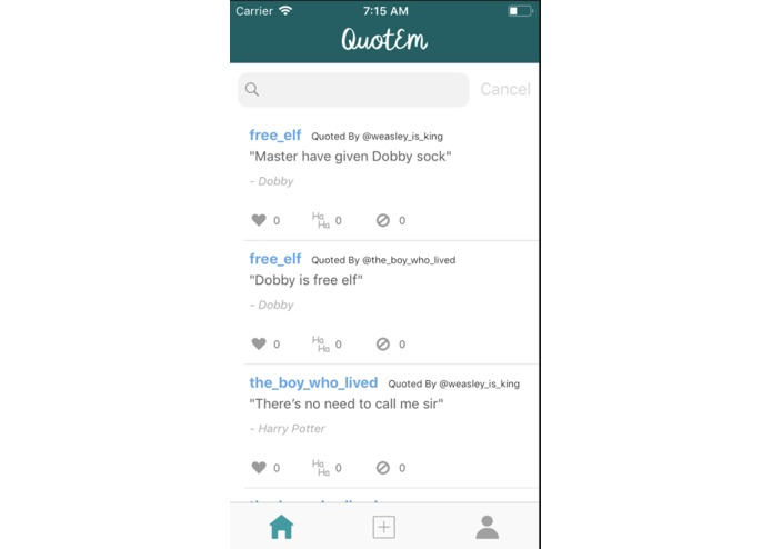 QuotEm – screenshot 2