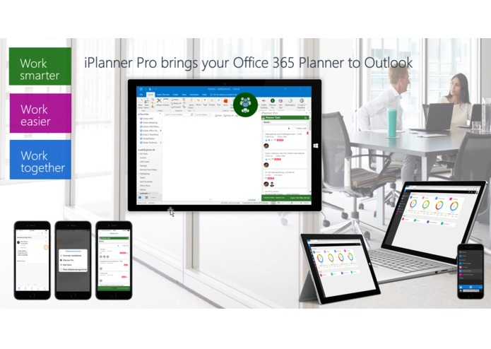 iPlanner Pro Outlook Add-in – screenshot 1