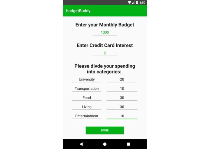 budgetBuddy – screenshot 2