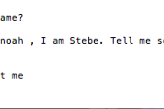 Stebe the learning bot