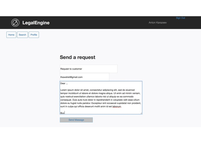 LegalEngine - qqmbr team – screenshot 3