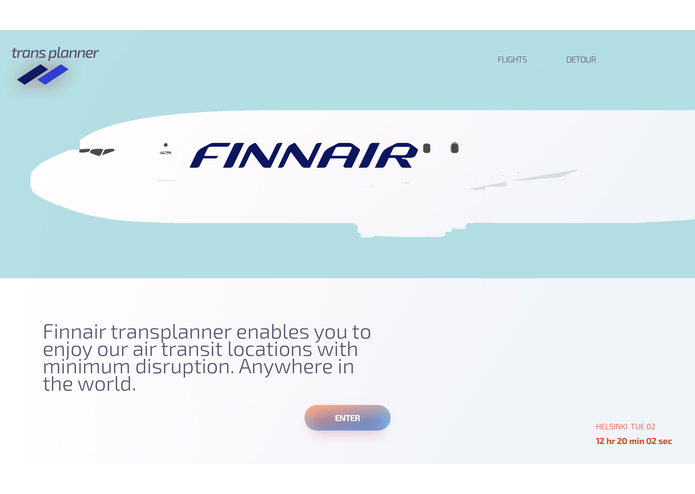 Finnair TransPlanner – screenshot 1