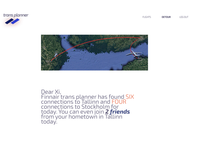 Finnair TransPlanner – screenshot 2