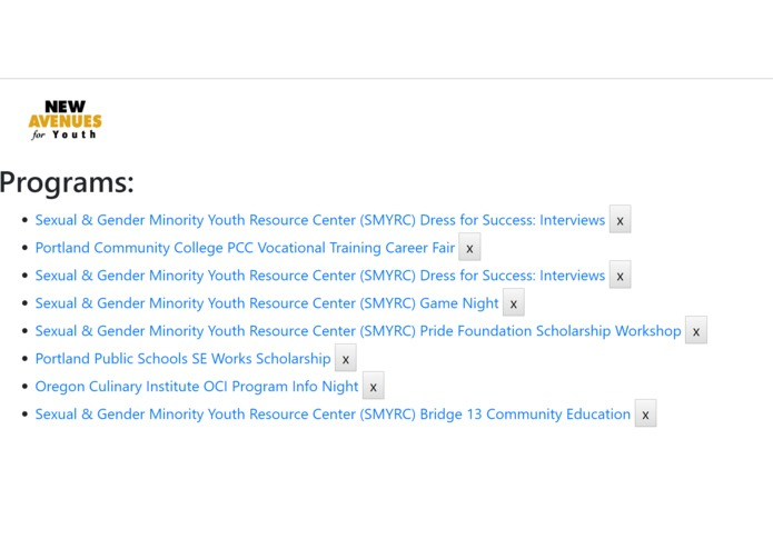 New Avenues for Youth Program Management  – screenshot 5