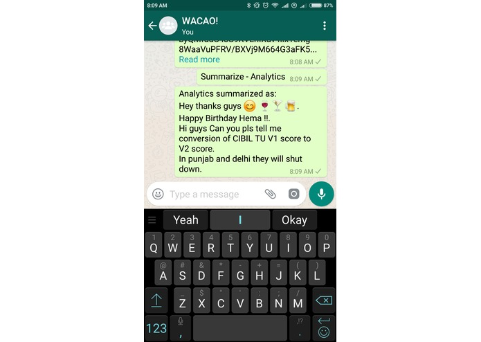 WACAO! - The Whatsapp Chat Assistant – screenshot 3