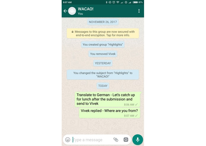 WACAO! - The Whatsapp Chat Assistant – screenshot 5