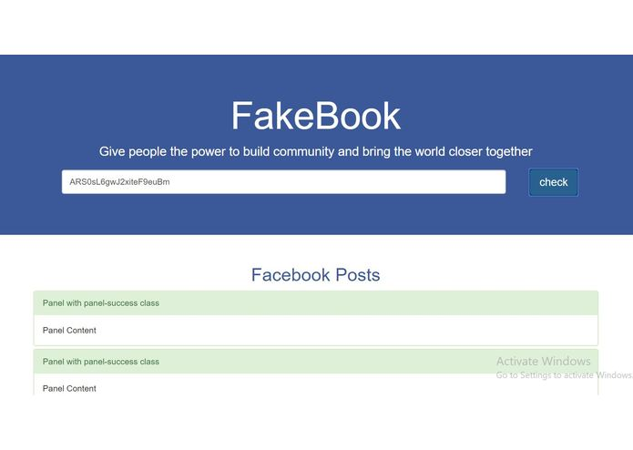 Fakebook – screenshot 1