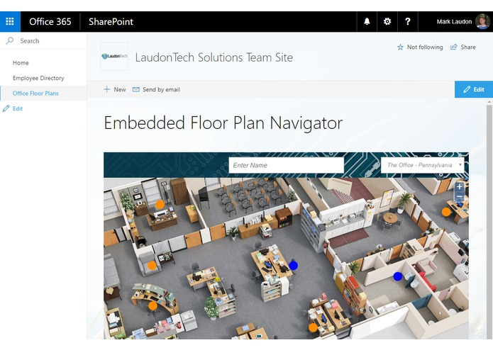 Office Floor Plans in SharePoint