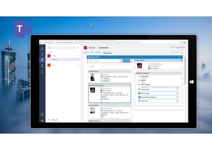 iGlobe CRM App for Microsoft Teams – screenshot 2