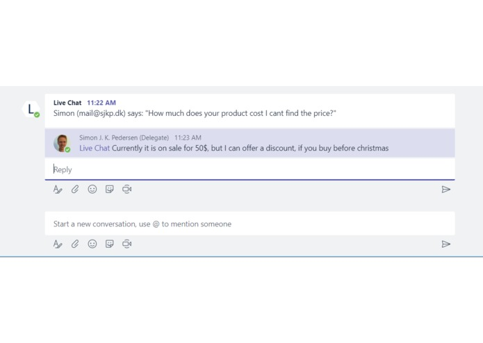 Live Web Chat for Microsoft Teams – screenshot 4