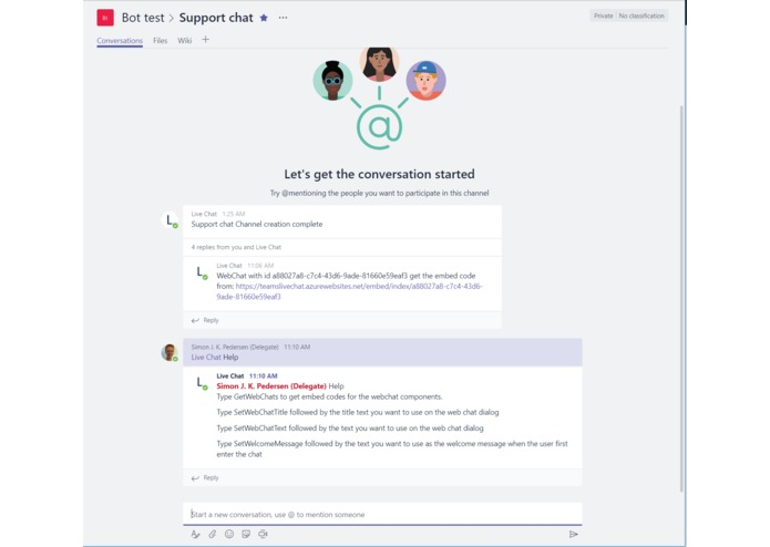 Live Web Chat for Microsoft Teams – screenshot 5