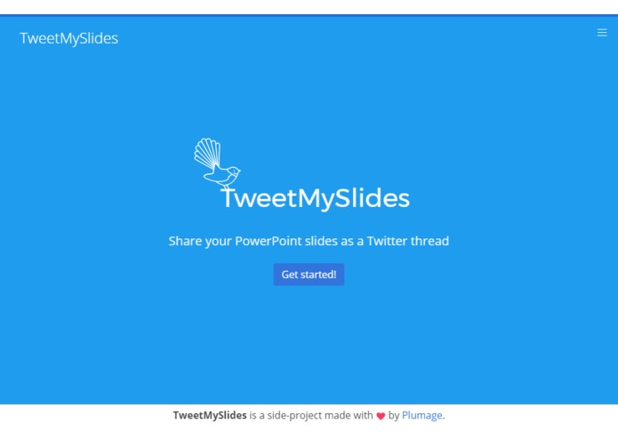 TweetMySlides – screenshot 1