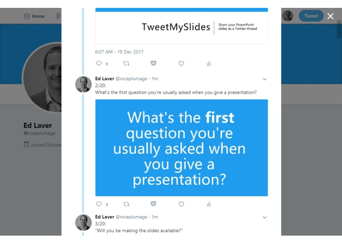 TweetMySlides – screenshot 14