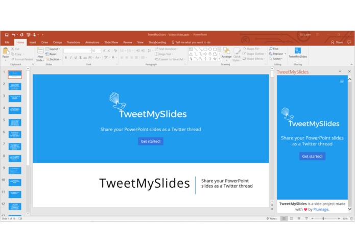 TweetMySlides – screenshot 2