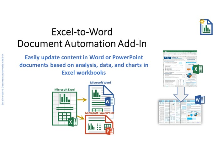Excel-to-Word Document Automation Add-in – screenshot 1