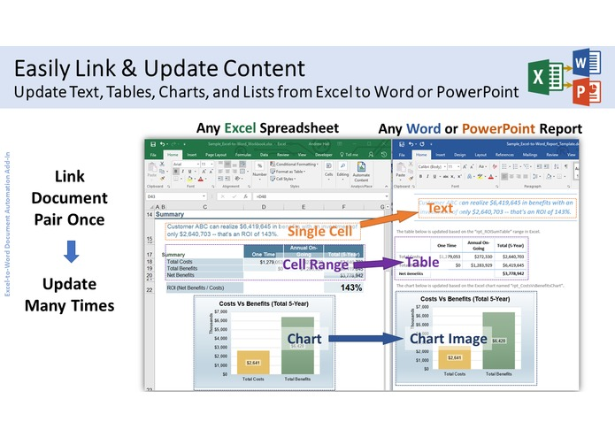 Excel-to-Word Document Automation Add-in – screenshot 2