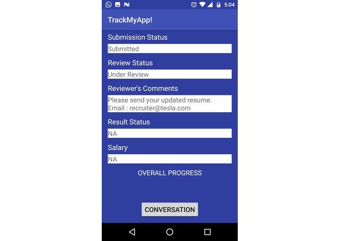 TrackMyApp – screenshot 4