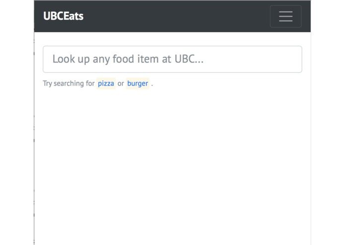 UBCEats – screenshot 1
