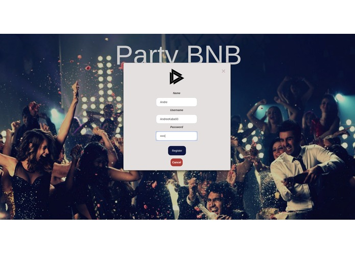 PartyBnB – screenshot 2