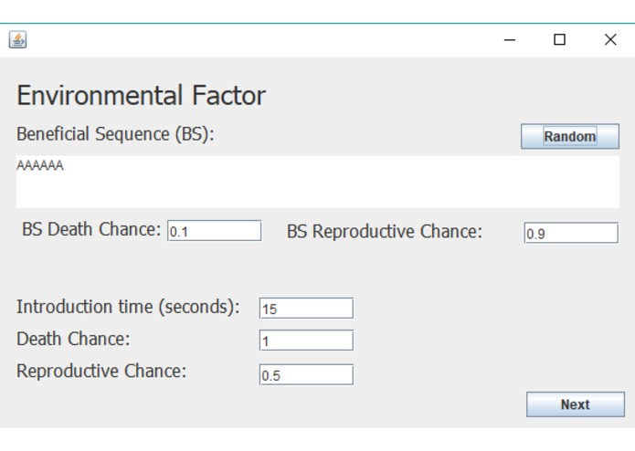 Single Nucleotide Polymorphism Simulator (SNPS) – screenshot 3