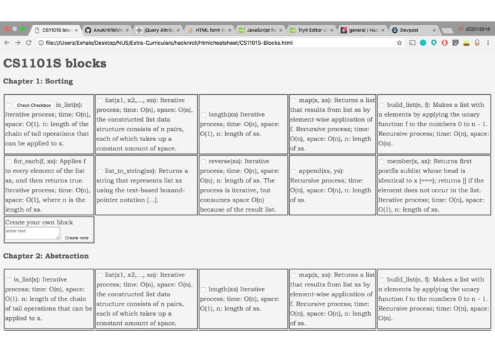 AA - Cheatsheet Builder – screenshot 1
