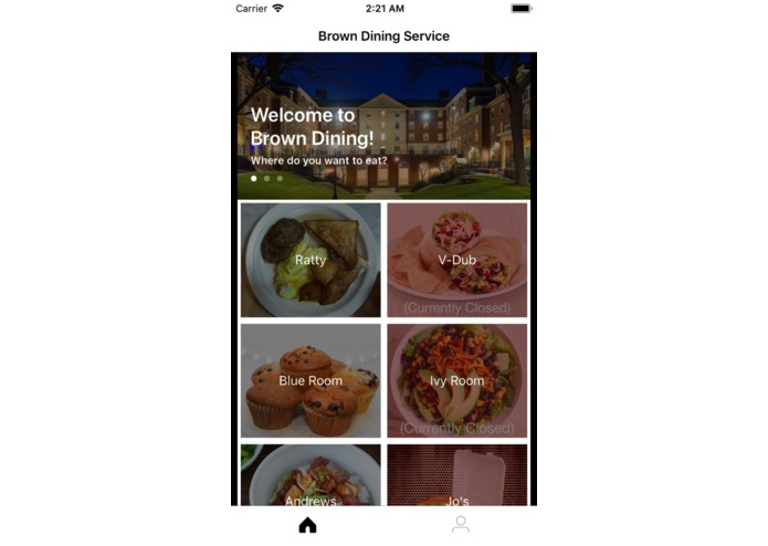 Brown Dining Service Menu – screenshot 2