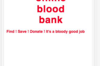 Online Blood Donation