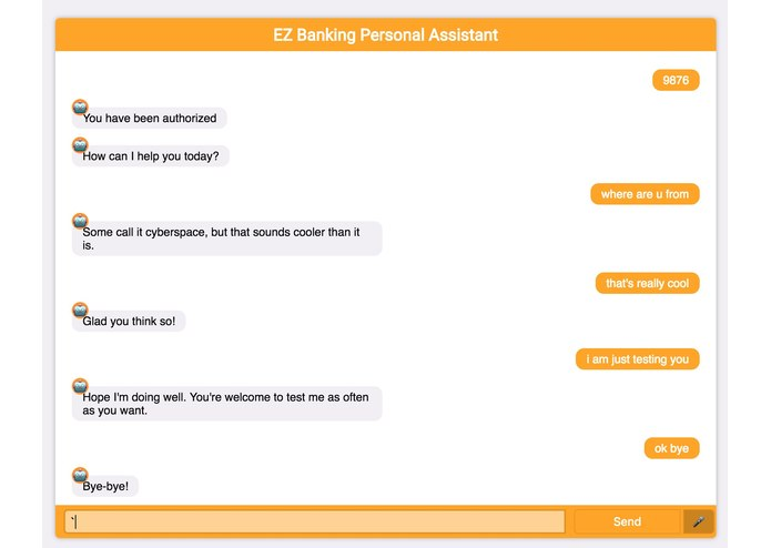 EZBanking Virtual Assistant – screenshot 1