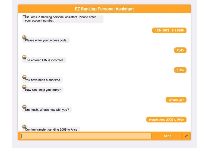 EZBanking Virtual Assistant – screenshot 2