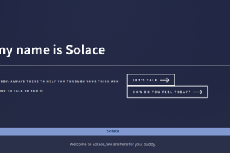 Solace - a chatbot for people in crisis